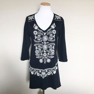 Johnny Was Embroidered Tunic Top